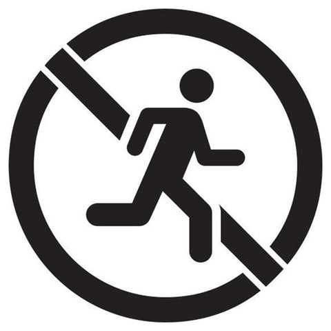 No Running Safety Stencil