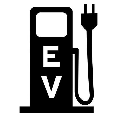 EV Charging Station Pump Stencil - solid