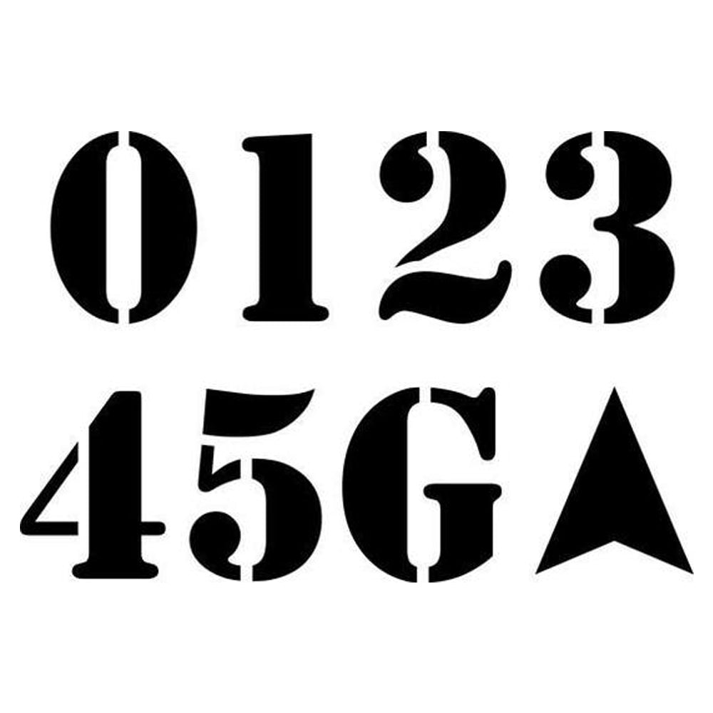 Football Field Numbers Stencil Set