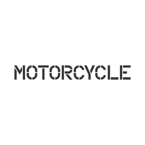 motorcycle sign stencil for wall and pavement