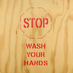 STOP Wash Your Hands | Safety Sign Stencil