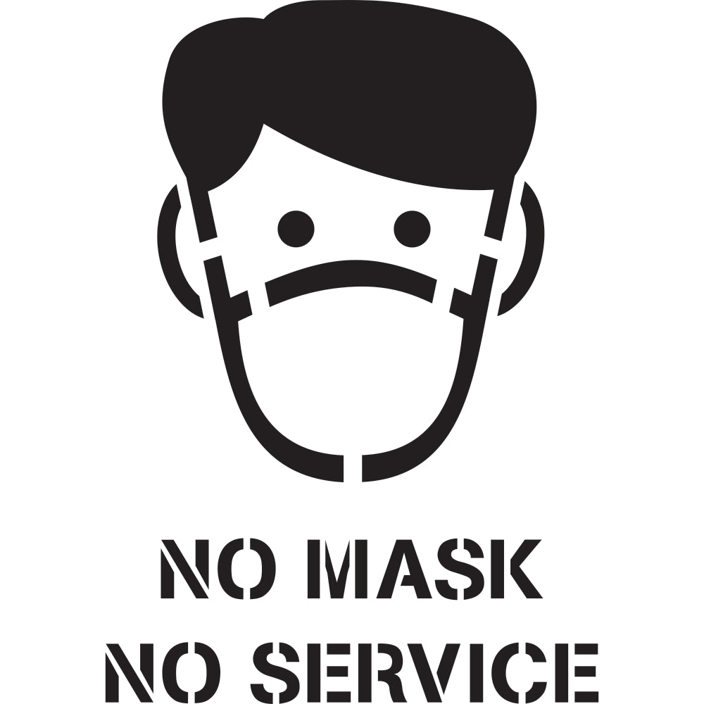 Reopen Safely Signs | No Mask  No Service