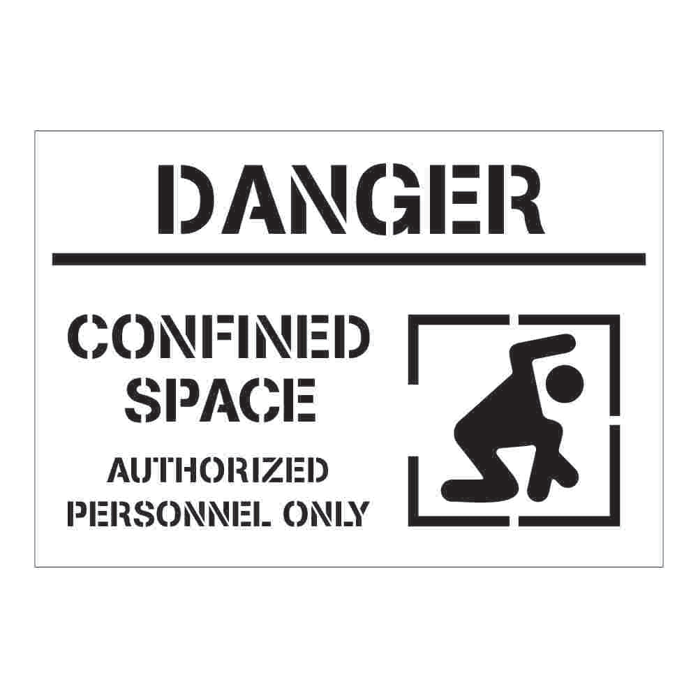 Confined Space Warning | Safety Sign Stencil