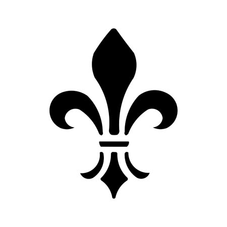 Revered image intended for fleur de lis stencil printable