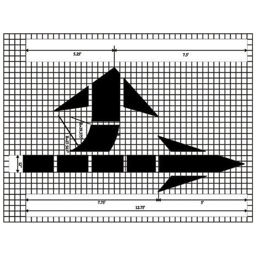 Bidirectional Arrow MUTCD Standard Pavement Stencil
