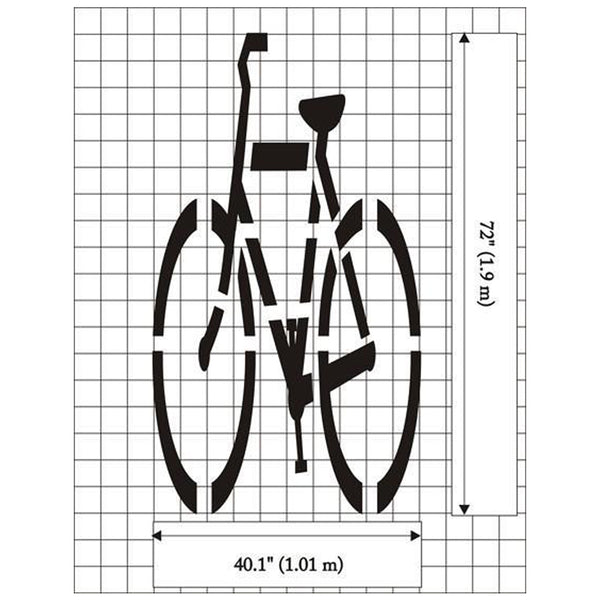 Bike Symbol MUTCD Pavement Marking Stencils