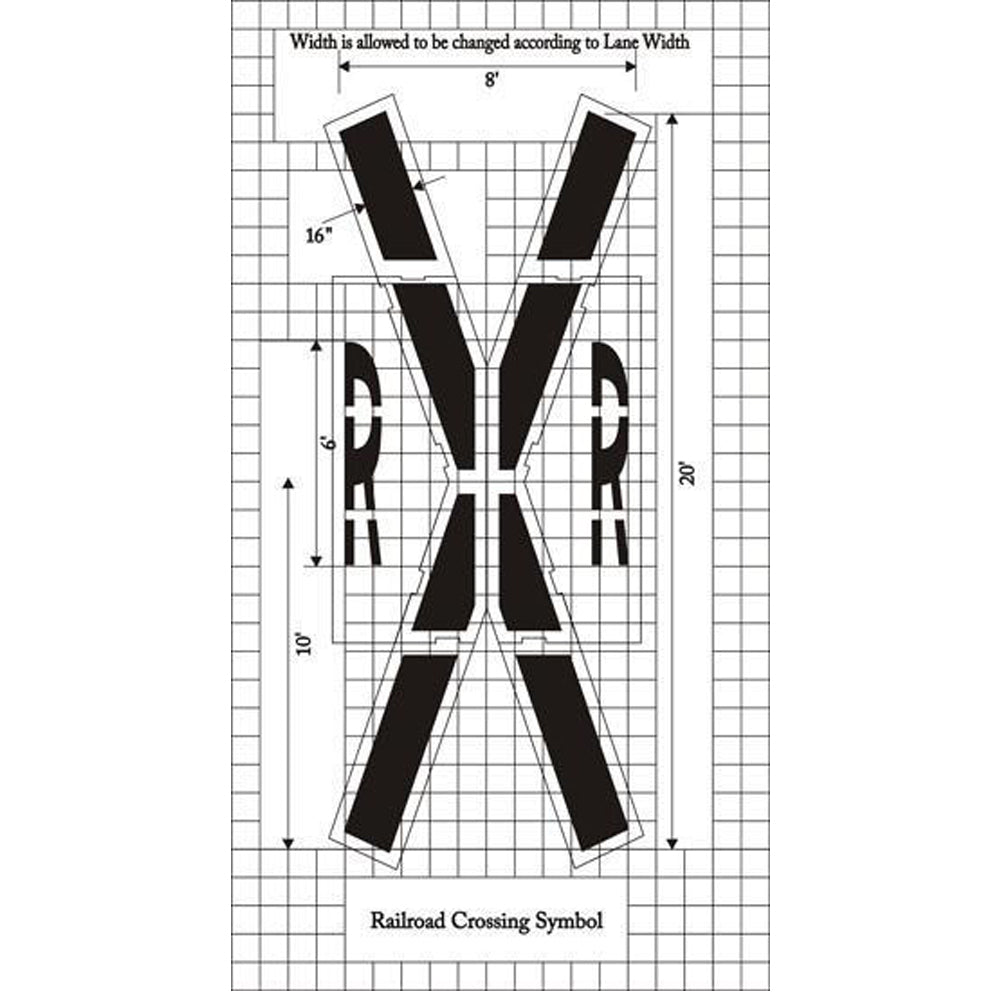 MUTCD standard Railroad Crossing Stencil
