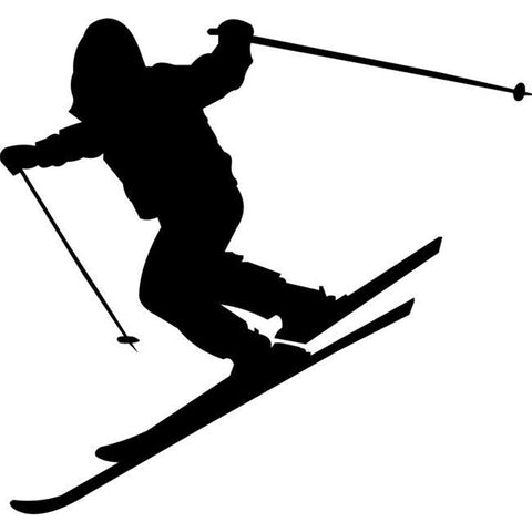 Steep Slope Skiing Stencil