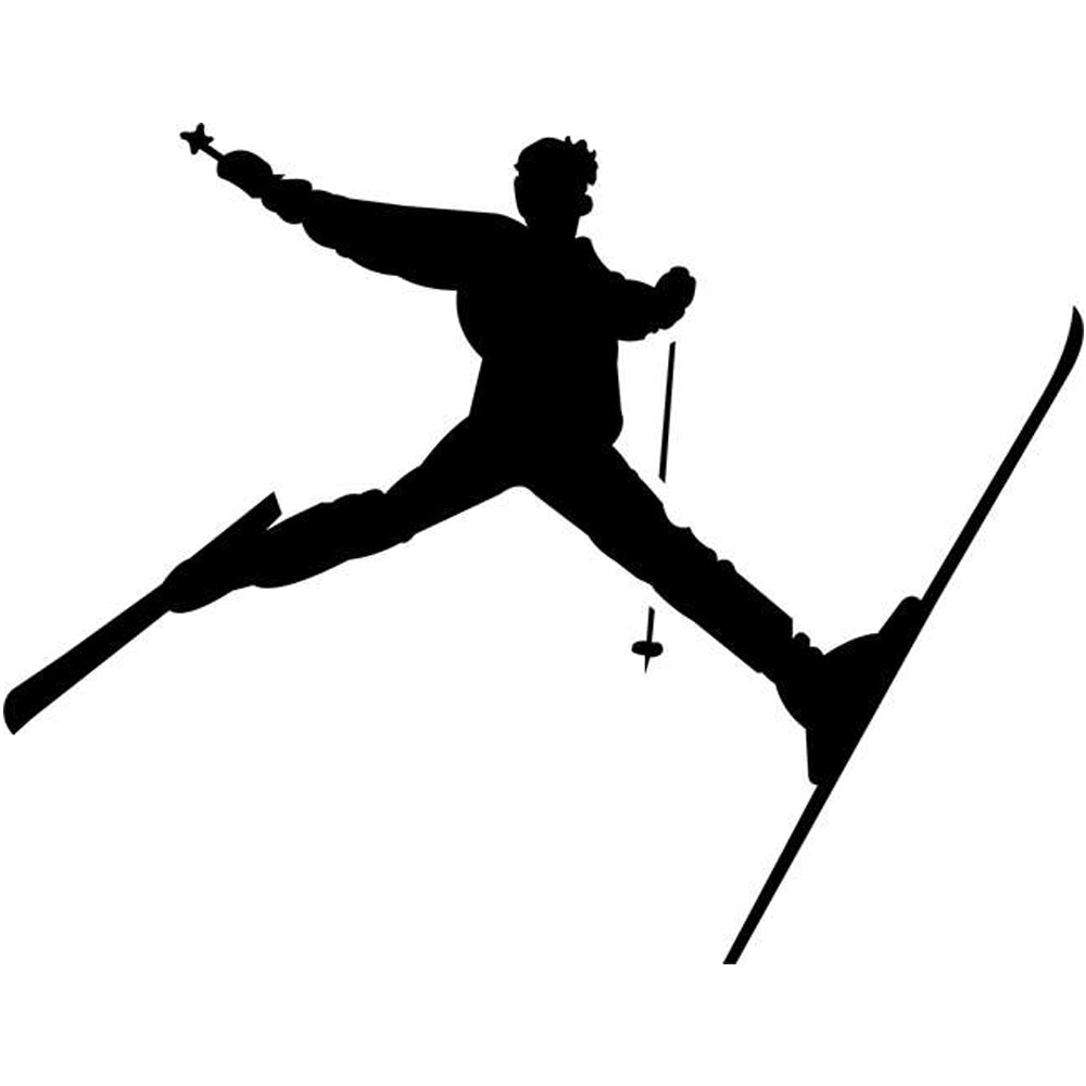 Spread Eagle Skiing Stencil