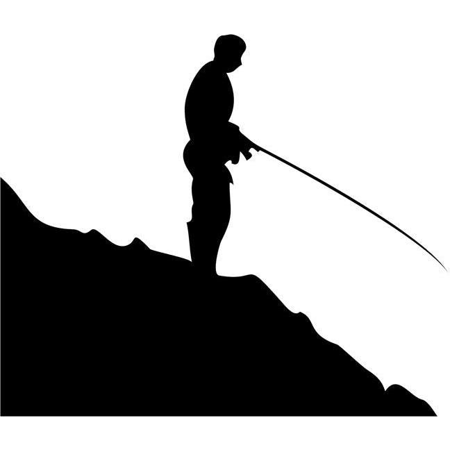 Cliffs Fishing Stencil