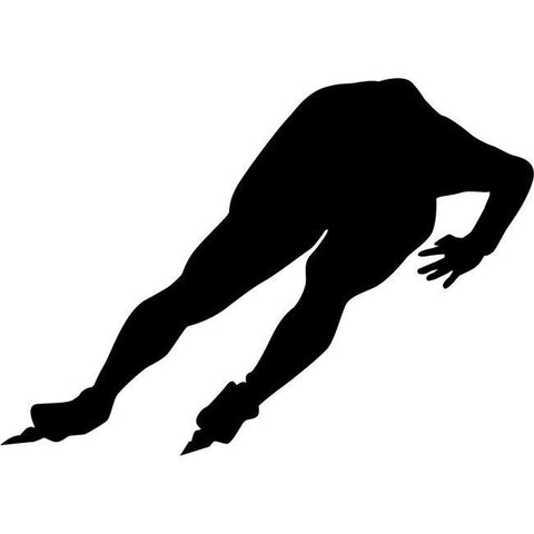 Speed Skate Figure Skating Stencil