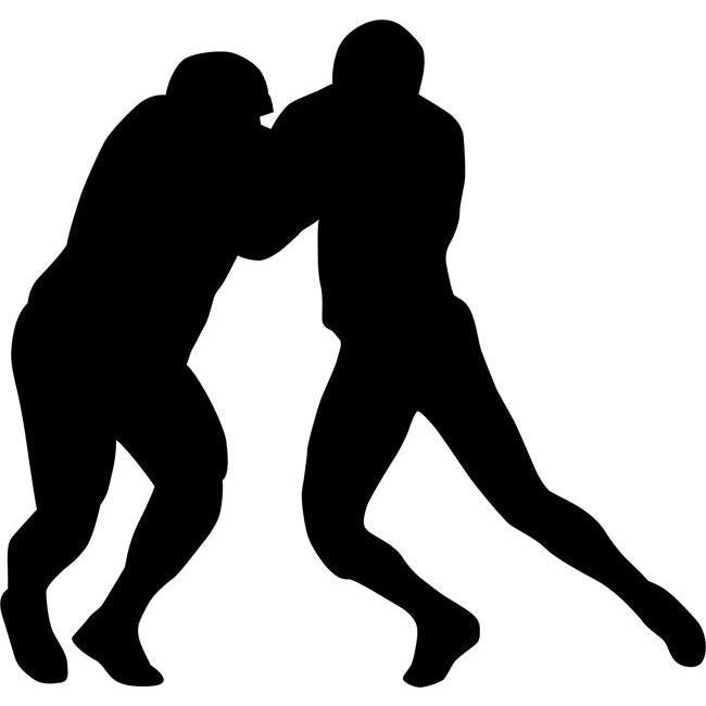 Tackle Football Stencil