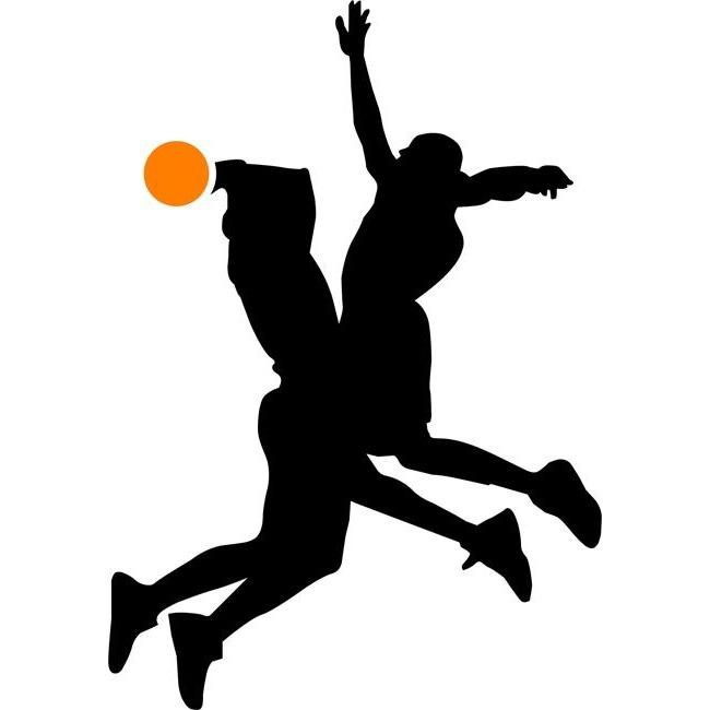 Defense Basketball Stencil
