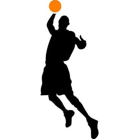 Flying Dunk Basketball Stencil