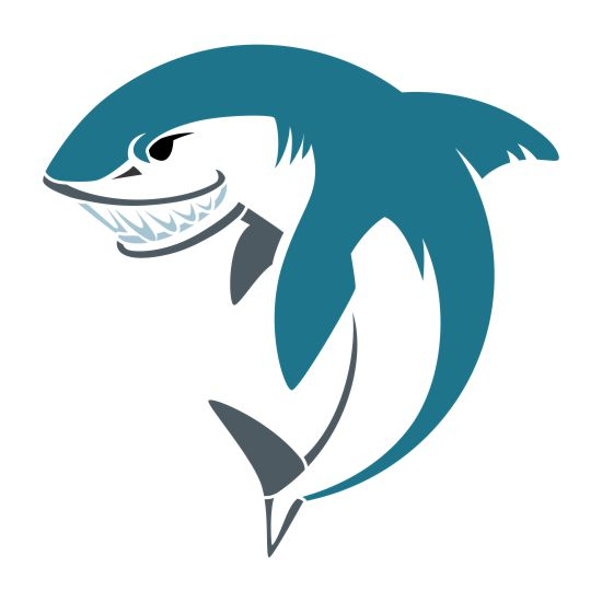 Shark 1 Mascot Athletic and Field Stencil