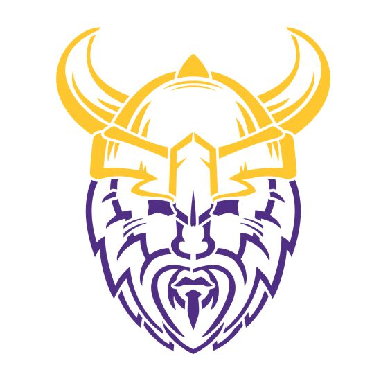 Vikings Head Mascot Athletic Stencil