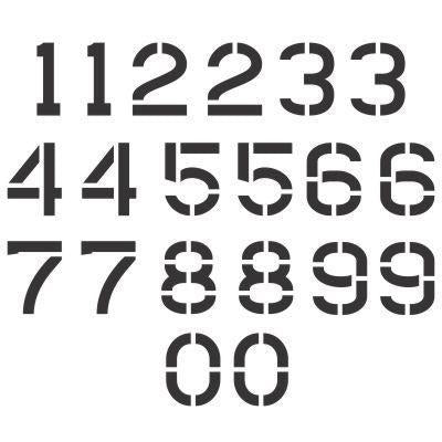 Pavement Marking Letter and Number Stencil Sets