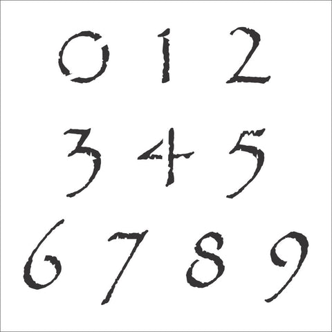 Papyrus Number Stencil Set | Value Pack