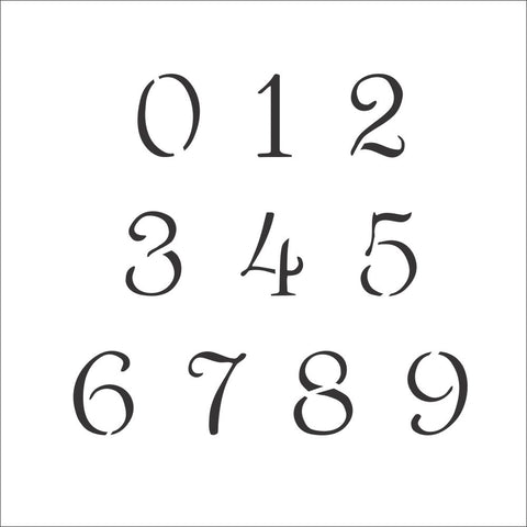 Simple Script Number Stencil Set | Value Pack