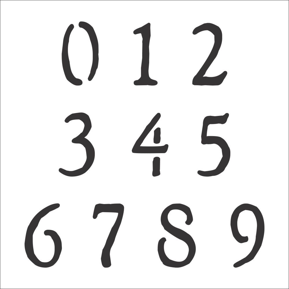 Rustic Number Stencil Set | Value Pack