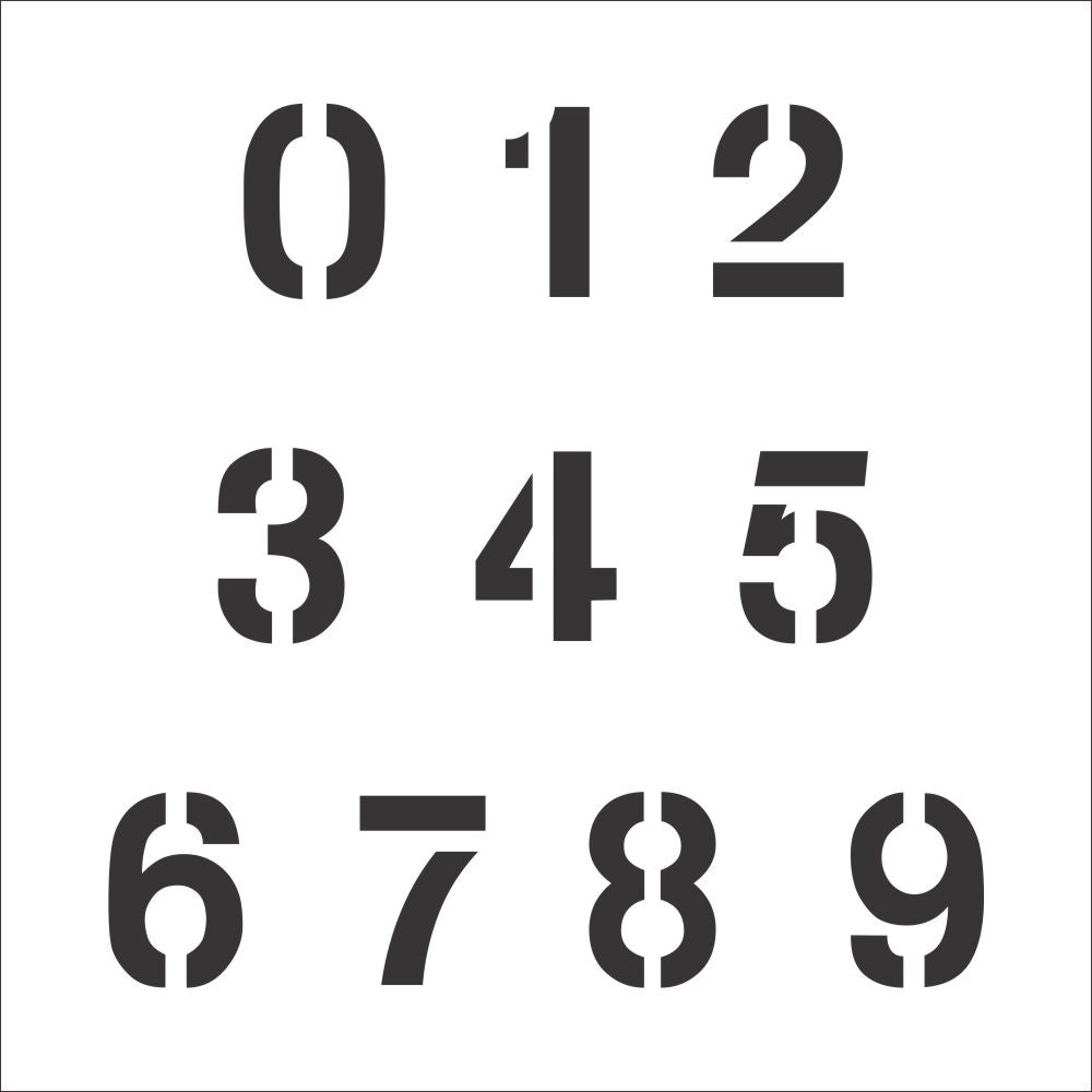 Arial Number Stencil Set | Value Pack