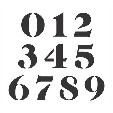 Caslon Number Stencil Set | Value Pack
