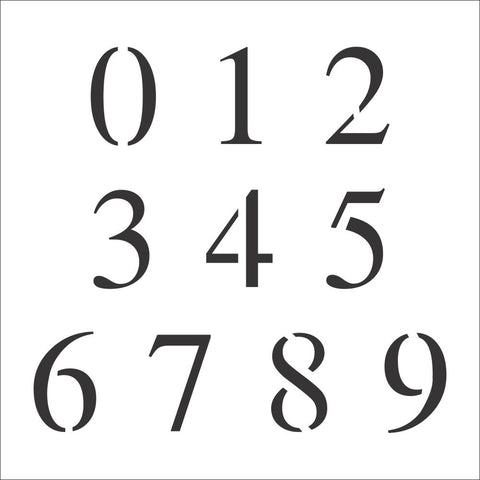 Times New Roman Number Stencil Set | Value Pack