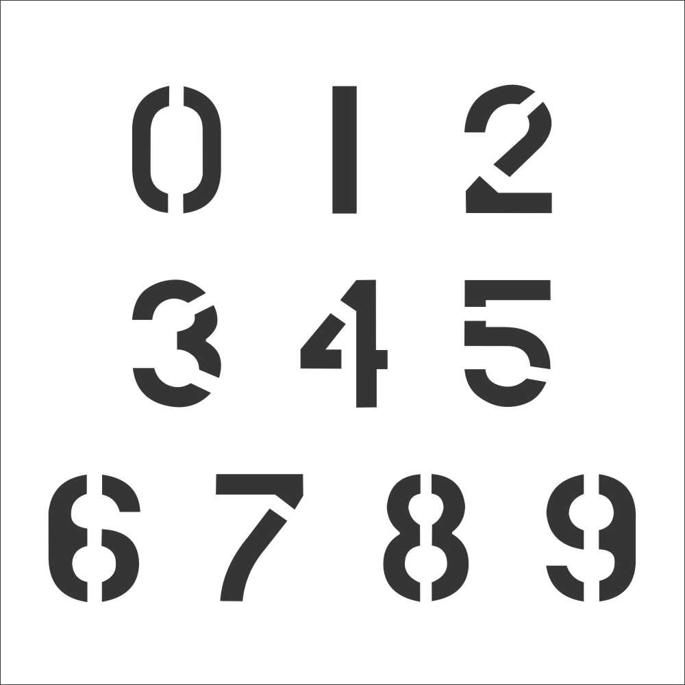 Military Number Stencil Set | Value Pack