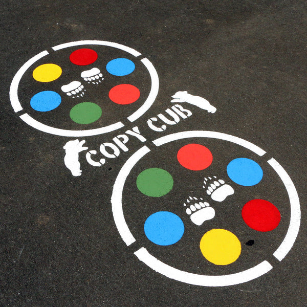 Copy Cat Game Playground Stencil