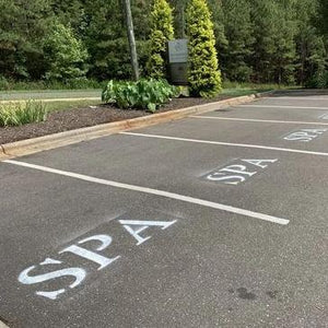 Custom Parking Lot Stencil
