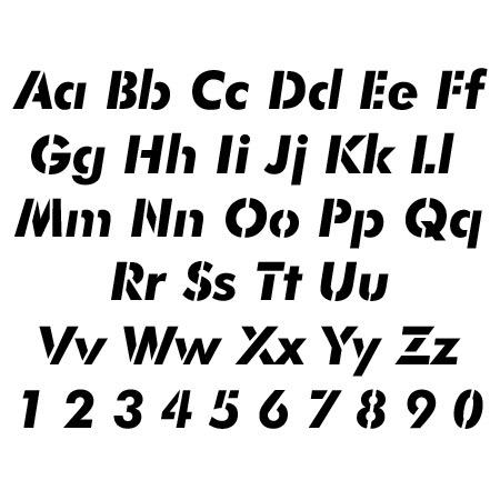Futura Letter and Number Stencil Sets