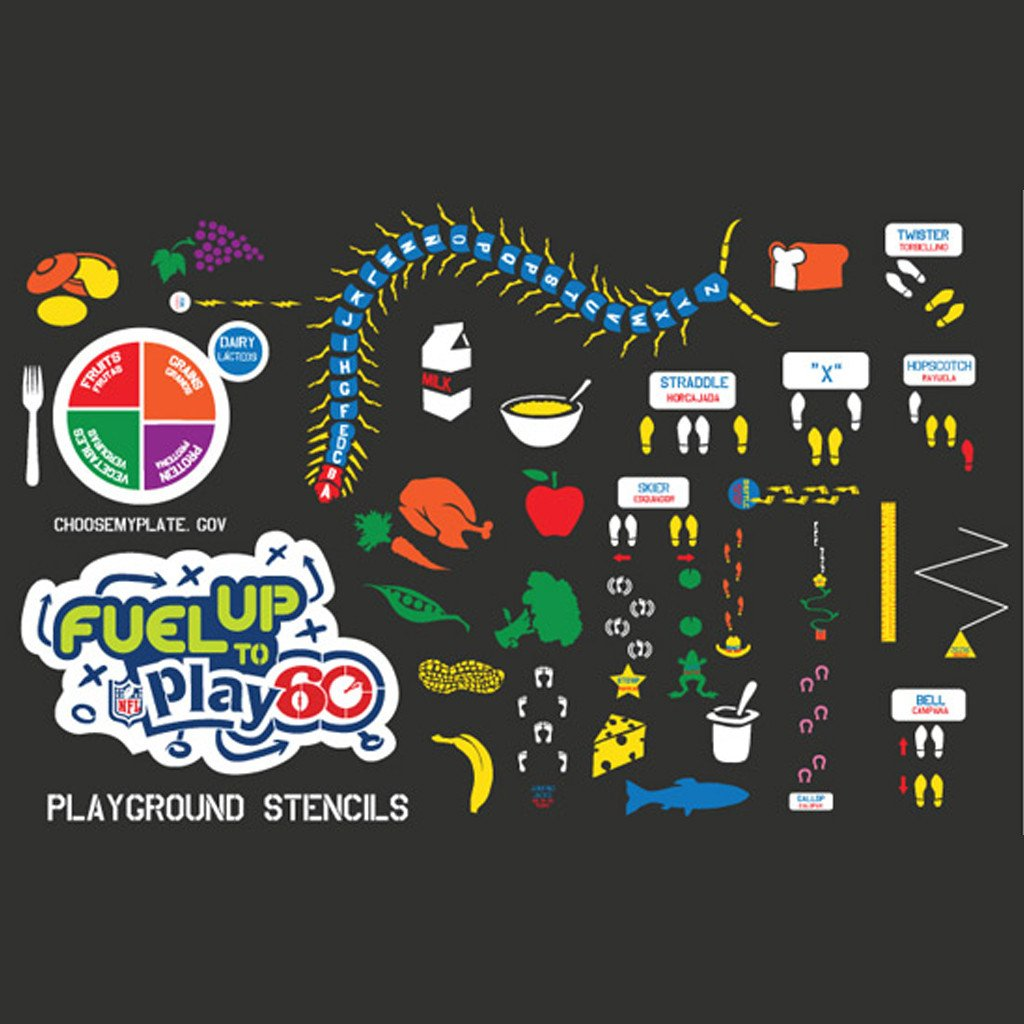 Fuel Up To Play 60 Basic Stencil Set