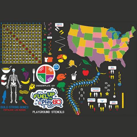 Fuel Up To Play 60 Deluxe Stencil Set