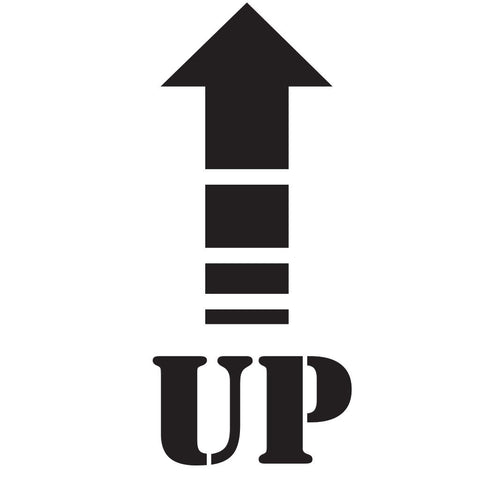 Up Arrow Shipping Symbol Stencil