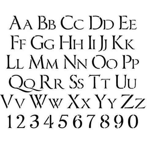 Imperator Letter and Number Stencil Sets