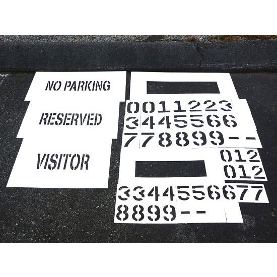 Deluxe Curb Painting Stencil Kit