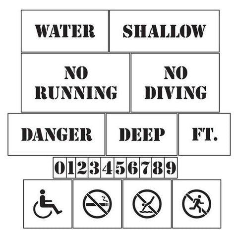 Pool Area Marking Stencils Kit