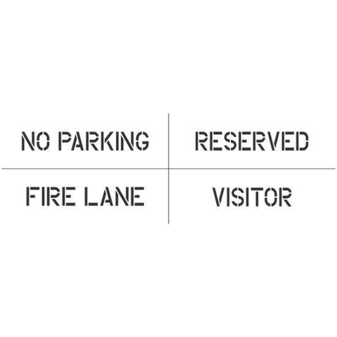 4 Piece Parking Spot Stencil Kit
