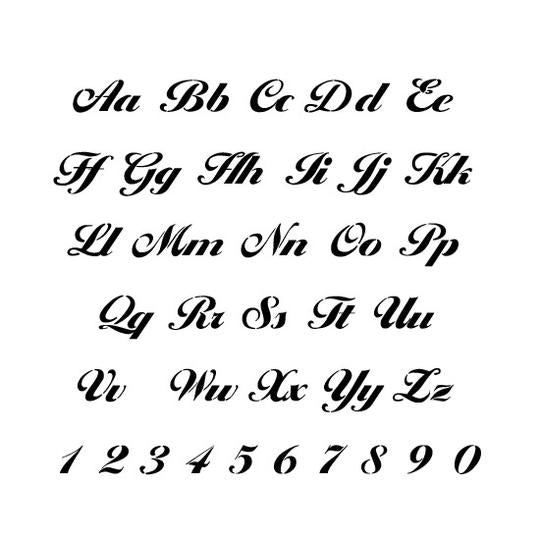 Monogram Letter and Number Stencil Sets