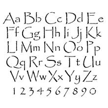 Papyrus Letter and Number Stencil Sets