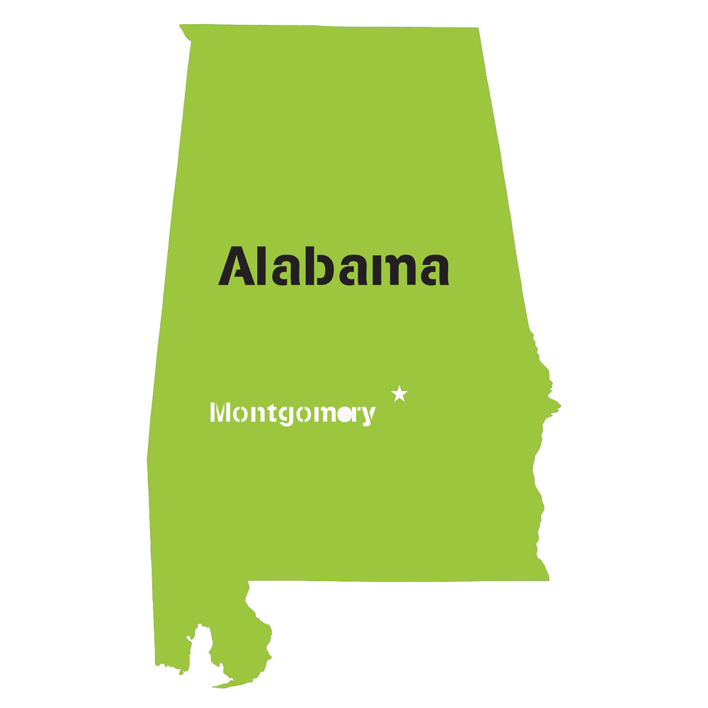 Alabama State Map Stencil