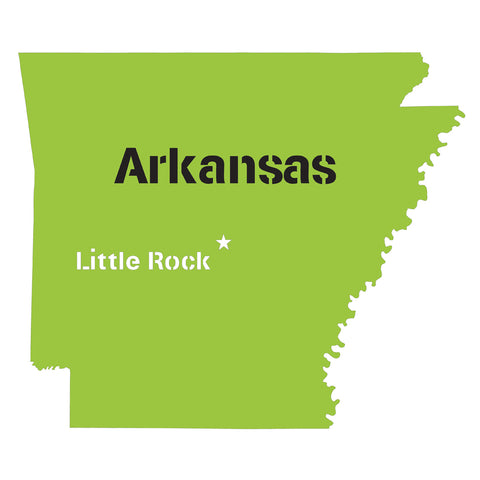 Arkansas State Map Stencil