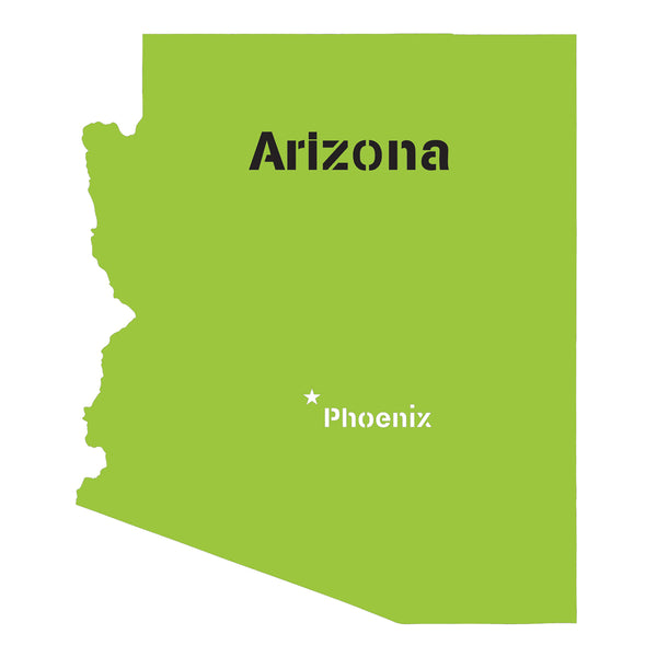 Arizona State Map Stencil