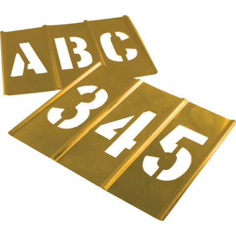 Brass Lettering and Number Stencils Set