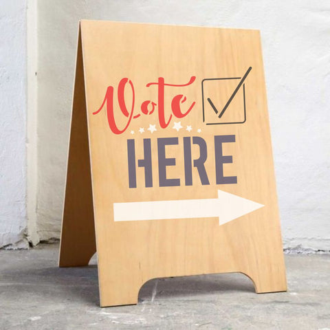 Vote Here | Election Sign Stencil