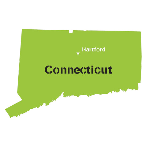 Connecticut State Map Stencil