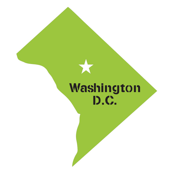 Washington D.C. Map Stencil