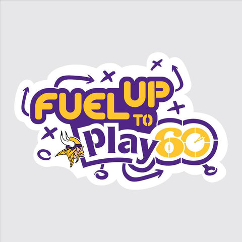 Vikings Fuel Up to Play 60 NFL Logo Stencil