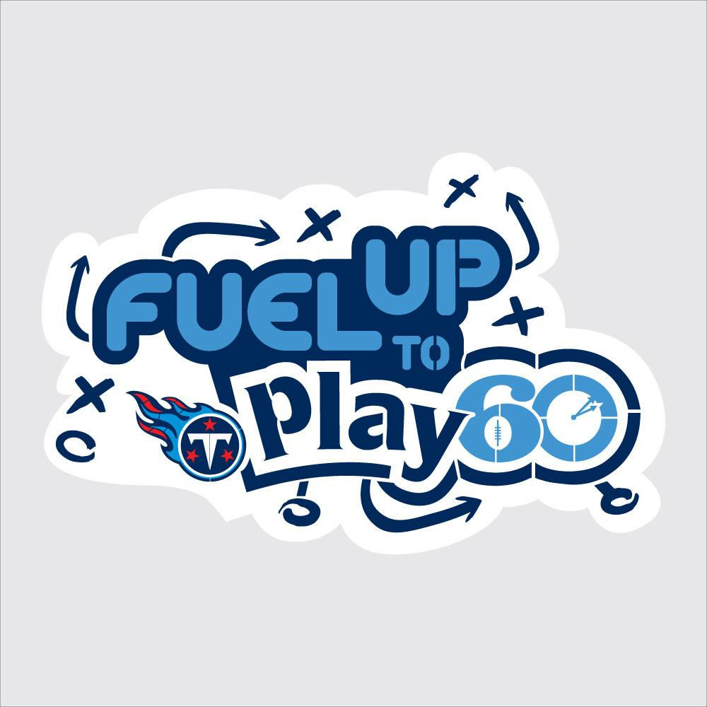 Titans Fuel Up to Play 60 NFL Teams Stencil