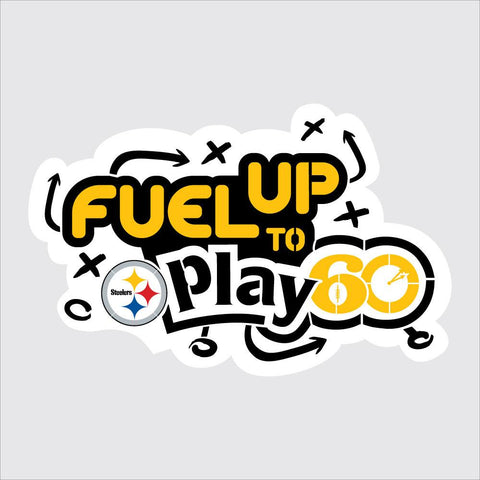 Steelers Fuel Up to Play 60 NFL Logo Stencil